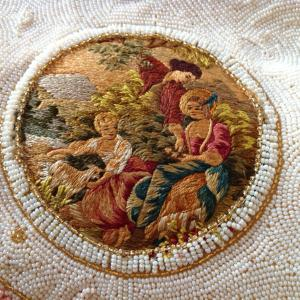 Ed B. Robinson close up of Satin Stitch Embroidery in purse