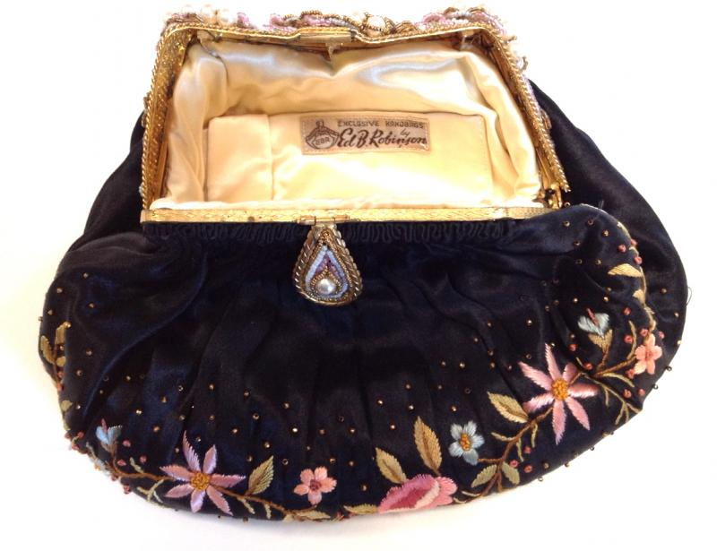 robinson embroidered purse